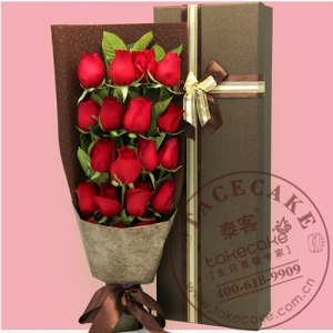 红色玫瑰礼盒