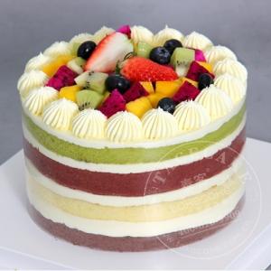 彩色裸蛋糕