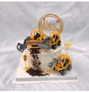 挖掘机蛋糕