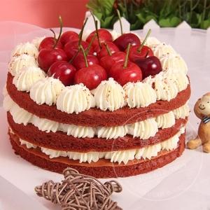 鲜樱桃蛋糕(红丝绒口味)