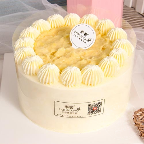 金枕榴莲蛋糕(榴莲肉至少200g)
